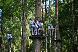 High ropes course. Facing fears!
